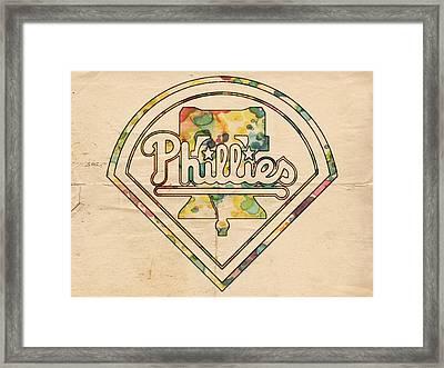 Philadelphia Phillies Poster Vintage Framed Print
