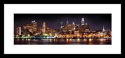 Philadelphia Skyline Framed Prints