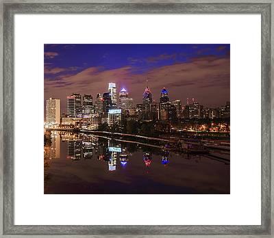 Philadelphia - Reflections On The Schuylkill River Framed Print