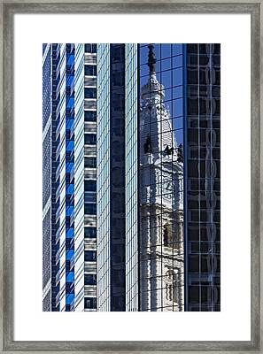 Philadelphia Reflections  Framed Print by Susan Candelario