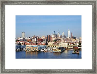 Philadelphia River View Framed Print by Bill Cannon