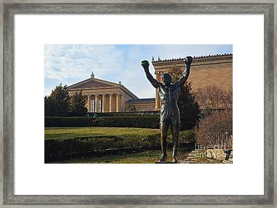Philadelphia - Rocky  Framed Print by Cindy Manero
