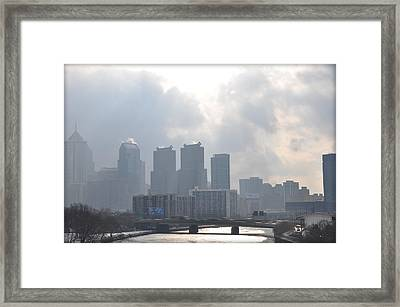 Philadelphia Schuylkill River View Framed Print by Bill Cannon