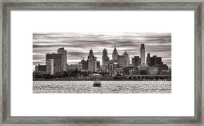 Philadelphia Silver Framed Print by Olivier Le Queinec