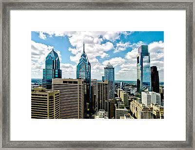 Philadelphia Skyline Framed Print by Frank Savarese