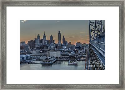 Philadelphia Skyline From Big Ben Framed Print