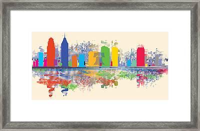 Philadelphia Skyline Framed Print by Loretta Luglio