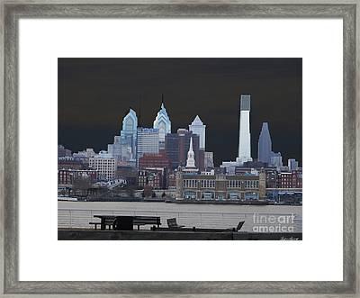 Philadelphia Skyline Framed Print by Lyric Lucas