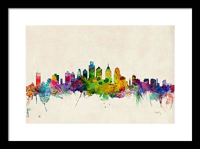Philadelphia Skyline Framed Prints