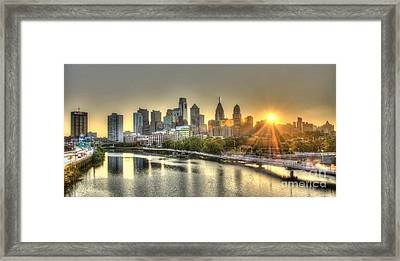 Philadelphia Sunrise Framed Print