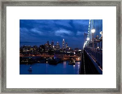 Philadelphia Twilight Framed Print by Jennifer Ancker