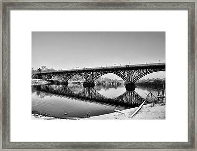 Philadelphia Winter - Strawberry Mansion Bridge Framed Print by Bill Cannon