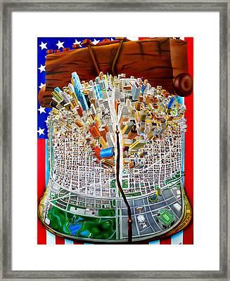 Philadelphia World Framed Print by Brett Sauce
