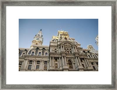 Philadelphia's City Hall - The Early Skyscraper Framed Print