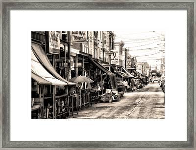 Philadelphia's Italian Market Framed Print