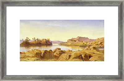 Philae, Egypt, Edward Lear, 1812-1888 Framed Print