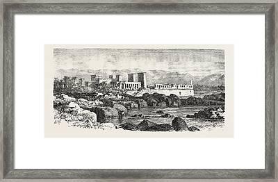 Philae. Egypt, Engraving 1879 Framed Print