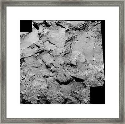 Philae Probe Landing Site Framed Print by Esa/rosetta/mps For Osiris Team Mps/upd/lam/iaa/sso/inta/upm/dasp/ida