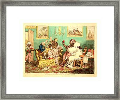 Philanthropic Consolations, After The Loss Framed Print by English School