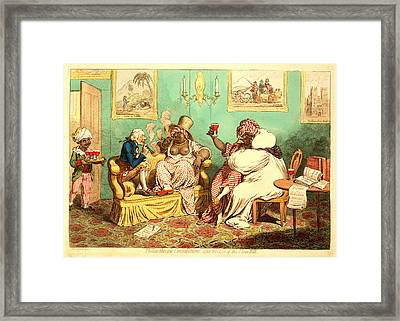Philanthropic Consolations, After The Loss Framed Print by Litz Collection
