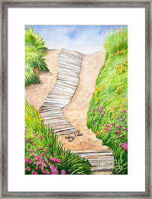 Philbin Beach Path Framed Print by Michelle Wiarda
