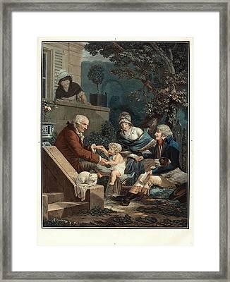 Philibert-louis Debucourt, French 1755-1832 Framed Print
