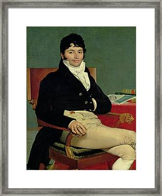 Philibert Riviere 1766-1816 1805 Oil On Canvas Framed Print by Jean Auguste Dominique Ingres