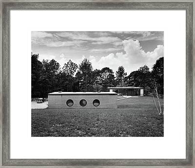 Philip C Johnson Guest House Framed Print by Andr? Kert?sz