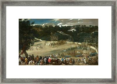 Philip Iv Hunting Wild Boar Framed Print