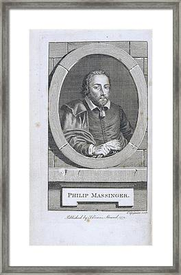 Philip Massinger Framed Print by British Library