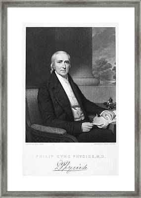 Philip Syng Physick Framed Print by Granger