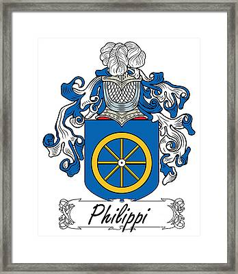 Philippi Coat Of Arms Di Firenze Framed Print