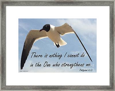 Philippians 4 13 By Saribelle Rodriguez Framed Print by Saribelle Rodriguez