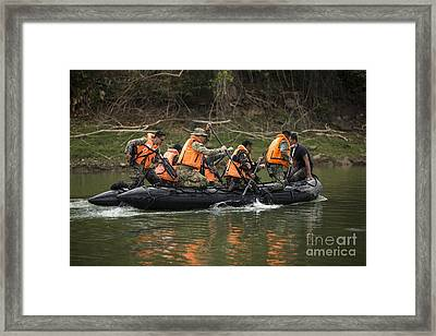 Philippine And U.s. Special Operations Framed Print by Stocktrek Images