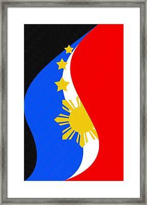 Philippine Flag Mobile Phone Case Design Framed Print by Jerome Obille