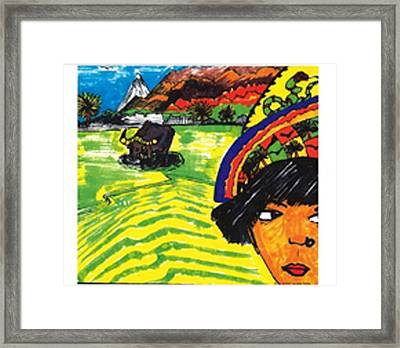 Framed Print featuring the drawing Philippines Cariboo by Don Koester