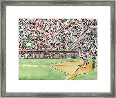 Phillies Game Framed Print by Cee Heard