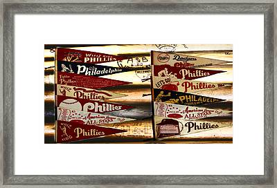 Phillies Pennants Framed Print by Bill Cannon