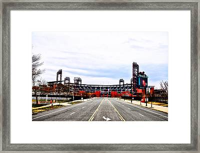 Phillies Stadium - Citizens Bank Park Framed Print by Bill Cannon