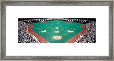 Phillies Vs Mets Baseball Game Framed Print by Panoramic Images