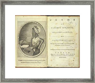 Phillis Wheatley Framed Print by British Library