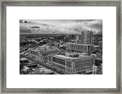 Philly Aerial View Framed Print by Douglas Barnard