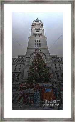 Philly City Christmas Framed Print by Mark Ayzenberg