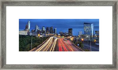 Philly Flow Framed Print by Kenny  Noddin