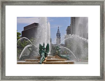 Philly Fountain Framed Print by Bill Cannon