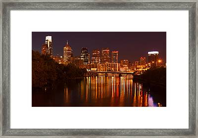 Philly Lights Reflected Framed Print