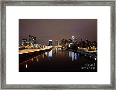 Philly Night Sky Framed Print by Mark Ayzenberg