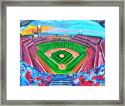 Philly Park Framed Print by Jennifer Virgin