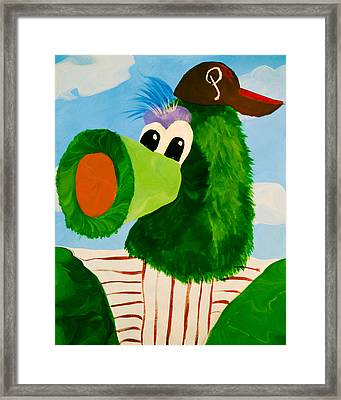 Philly Phanatic Framed Print by Trish Tritz