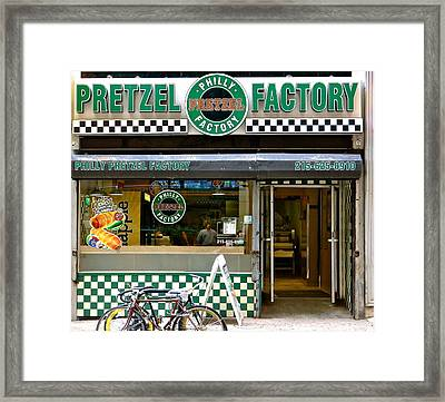 Philly Pretzel Factory Framed Print